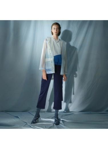 Yargıcı Kadın Plise Detaylı Bluz 0KKGM6057X037 Beyaz